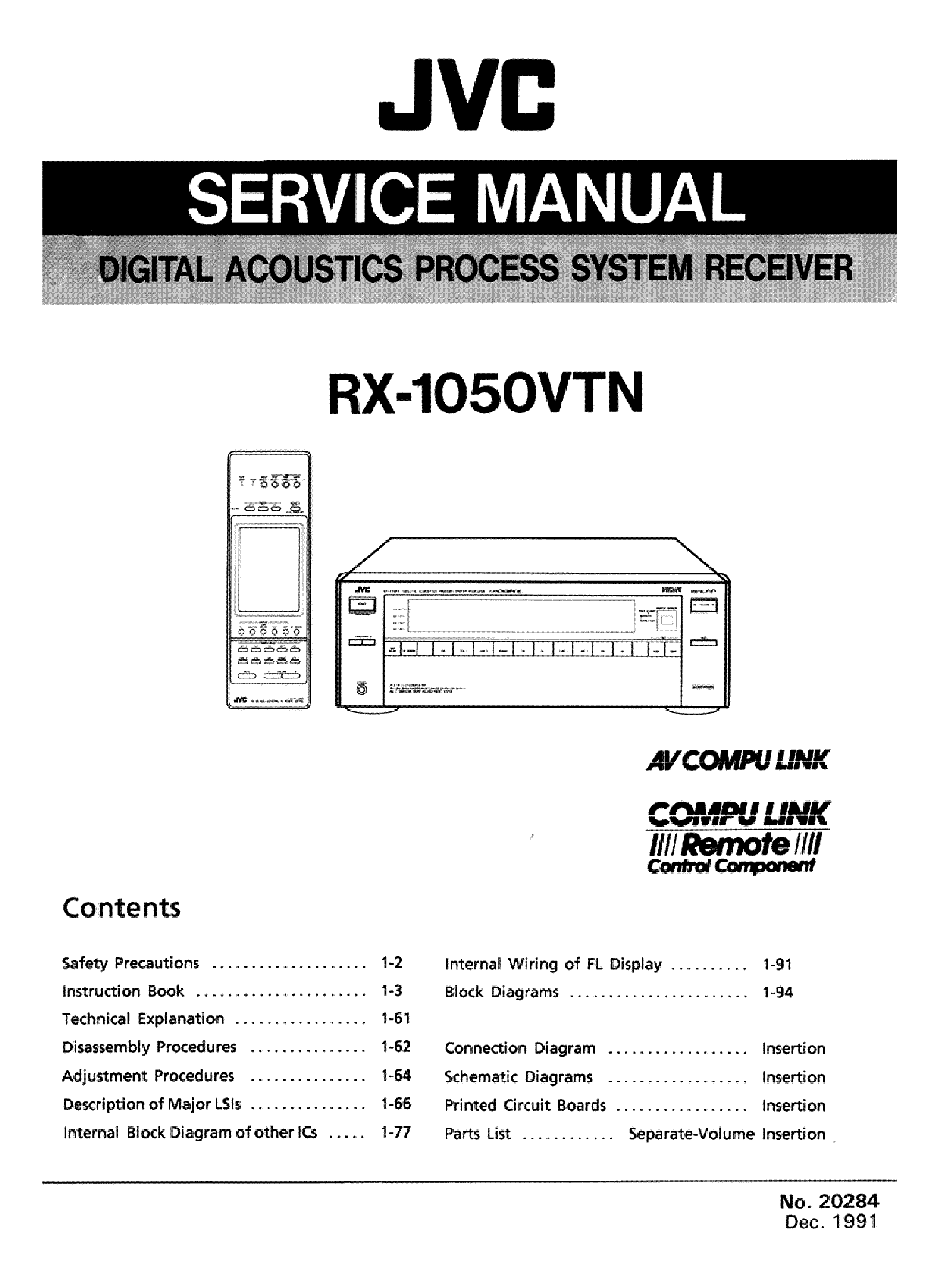 Jvc Rx 1050vtn Sm Service Manual Download Schematics Eeprom Schematic Diagram 1st Page