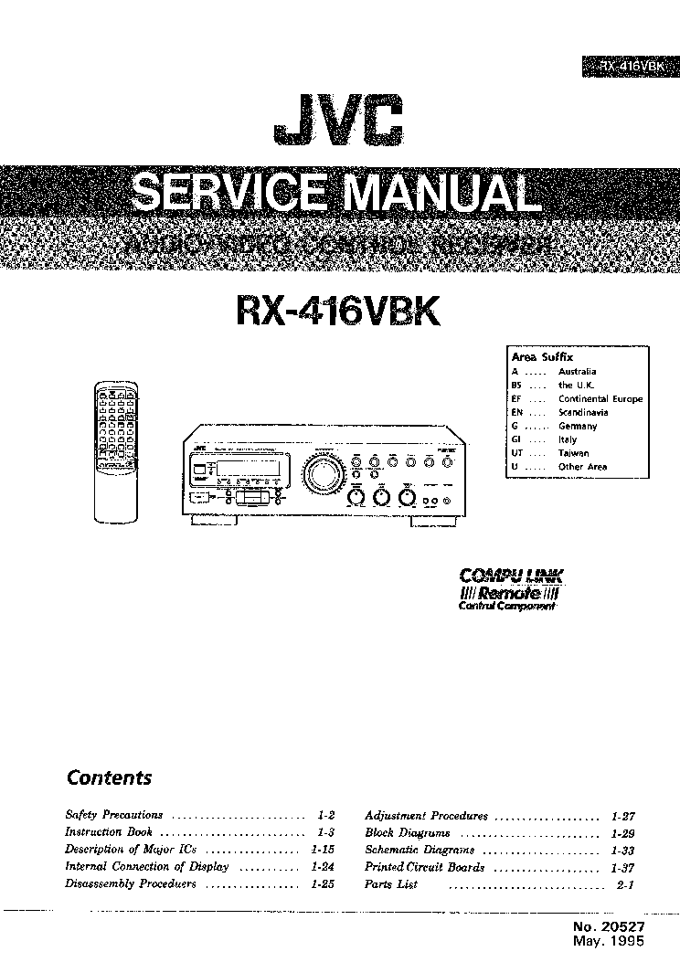 Free Manual For Jvc