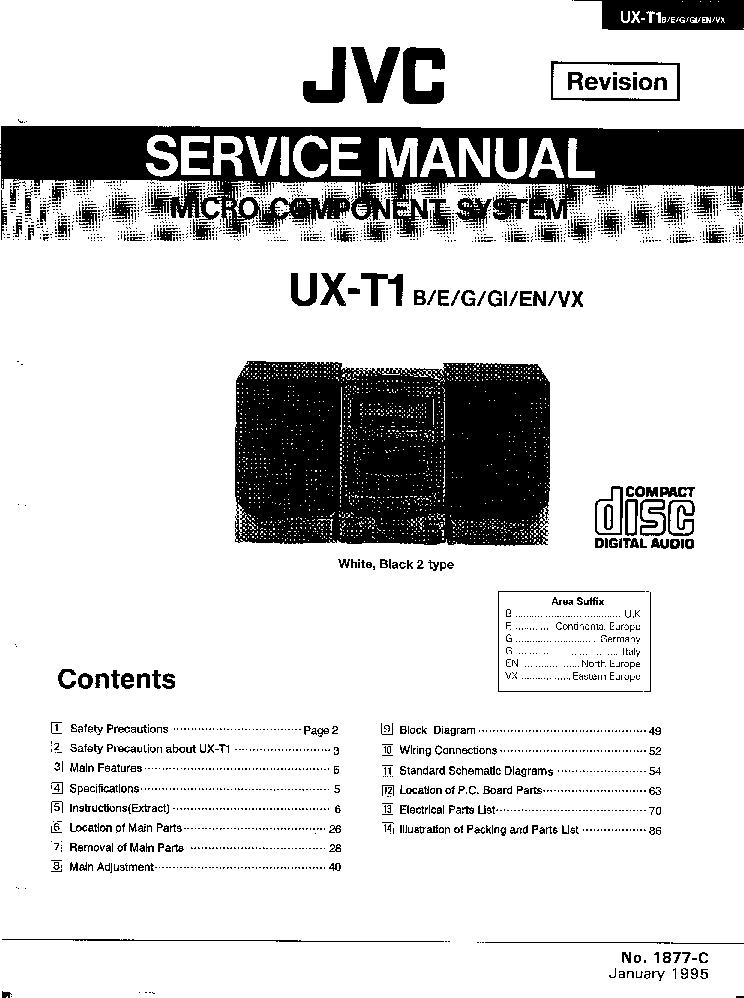 jvc ux-t1 sm service manual (1st page)