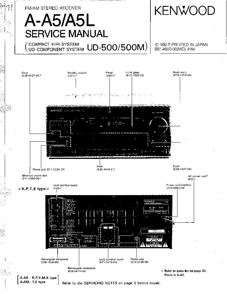 Fm Receiver Circuit Diagram | Kenwood A A5 A A5l Am Fm Stereo Receiver Service Manual Download