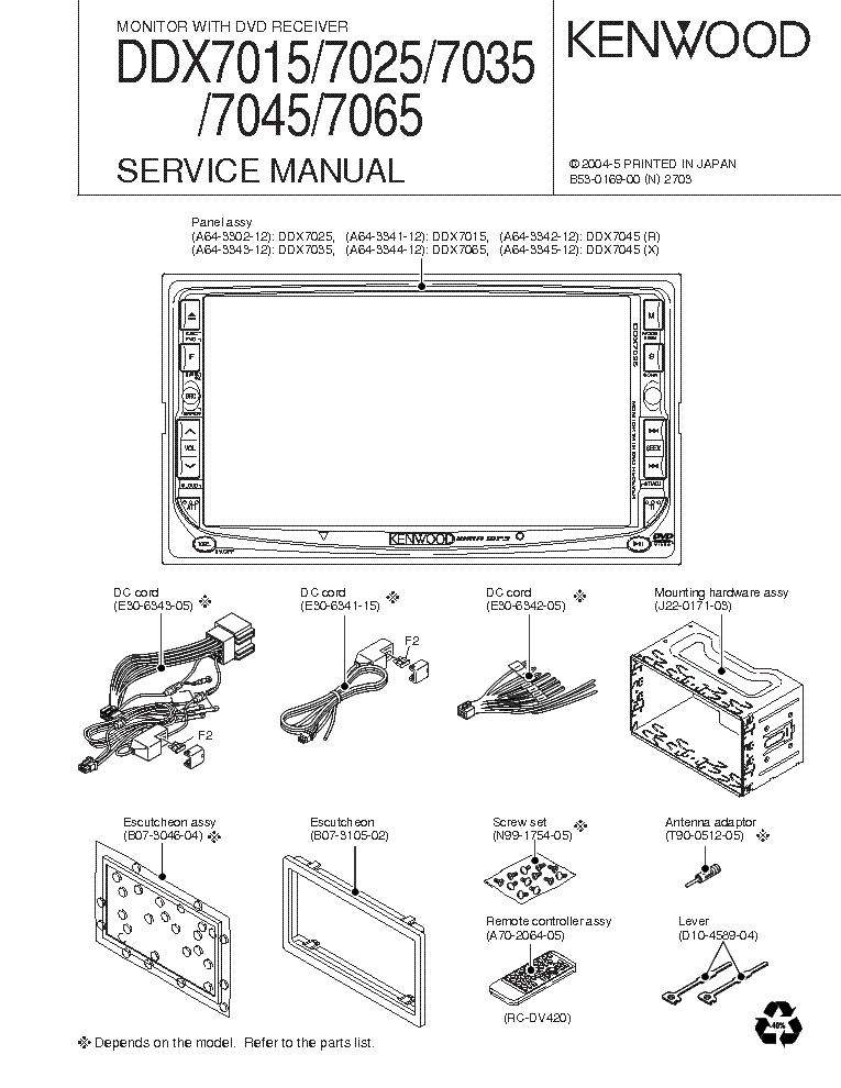 kenwood ddx7025 service manual download schematics. Black Bedroom Furniture Sets. Home Design Ideas