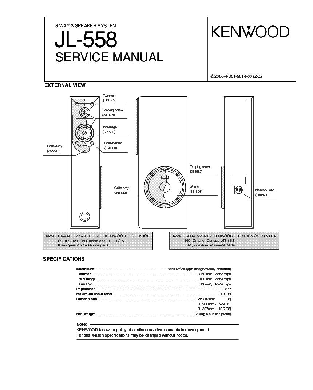 jbl sub 135 service manual