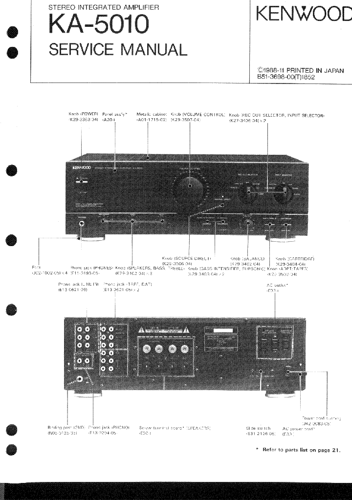 KENWOOD KA-5010 SM service manual (1st page)