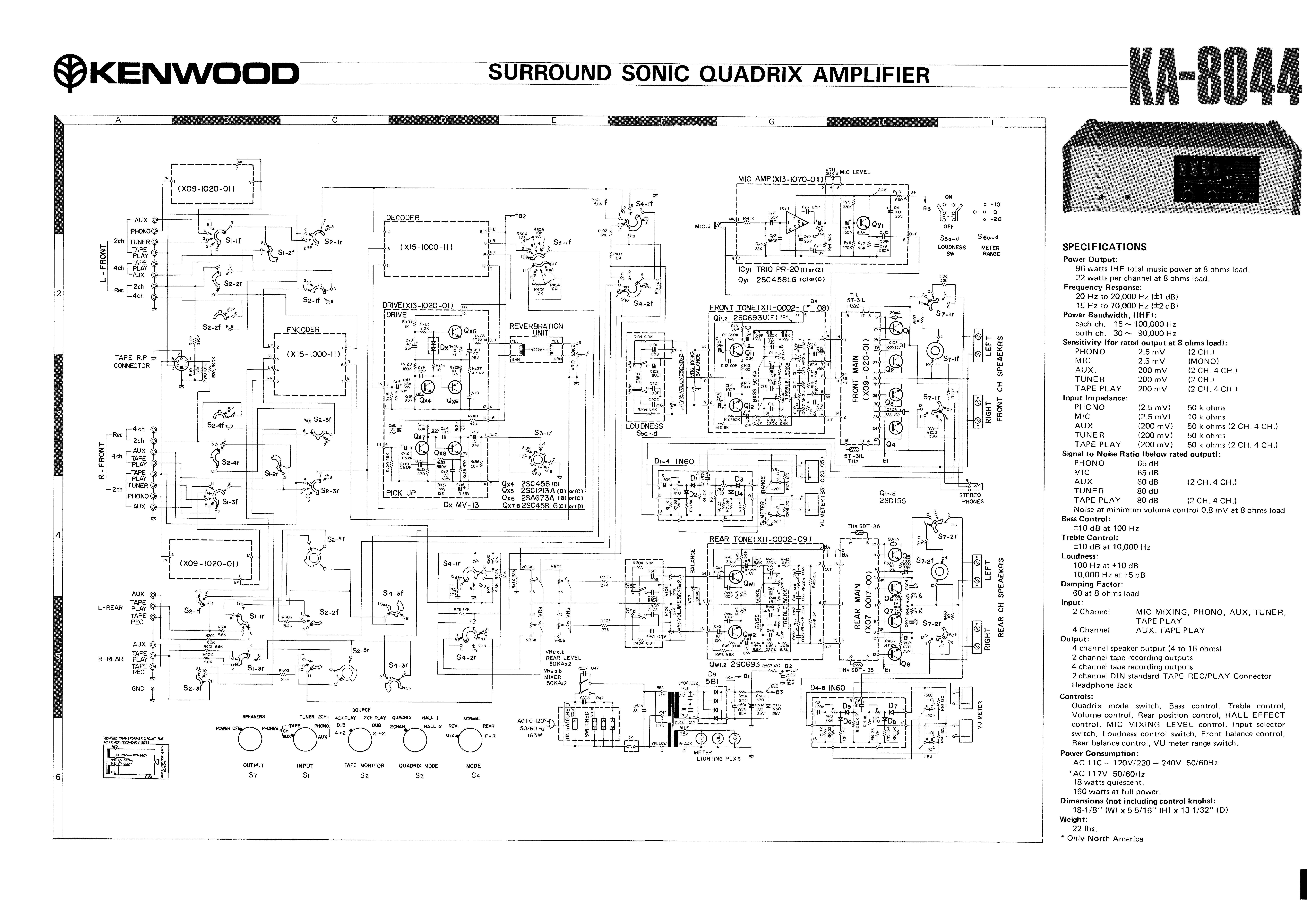 KENWOOD KA-8044 SCH service manual (1st page)