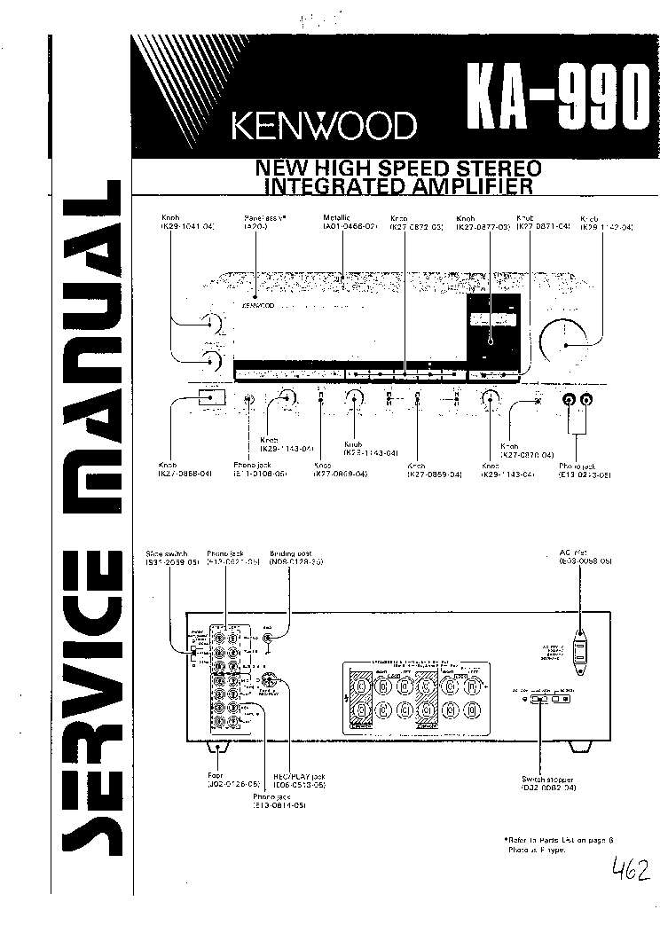 KENWOOD KA-990 SM service manual