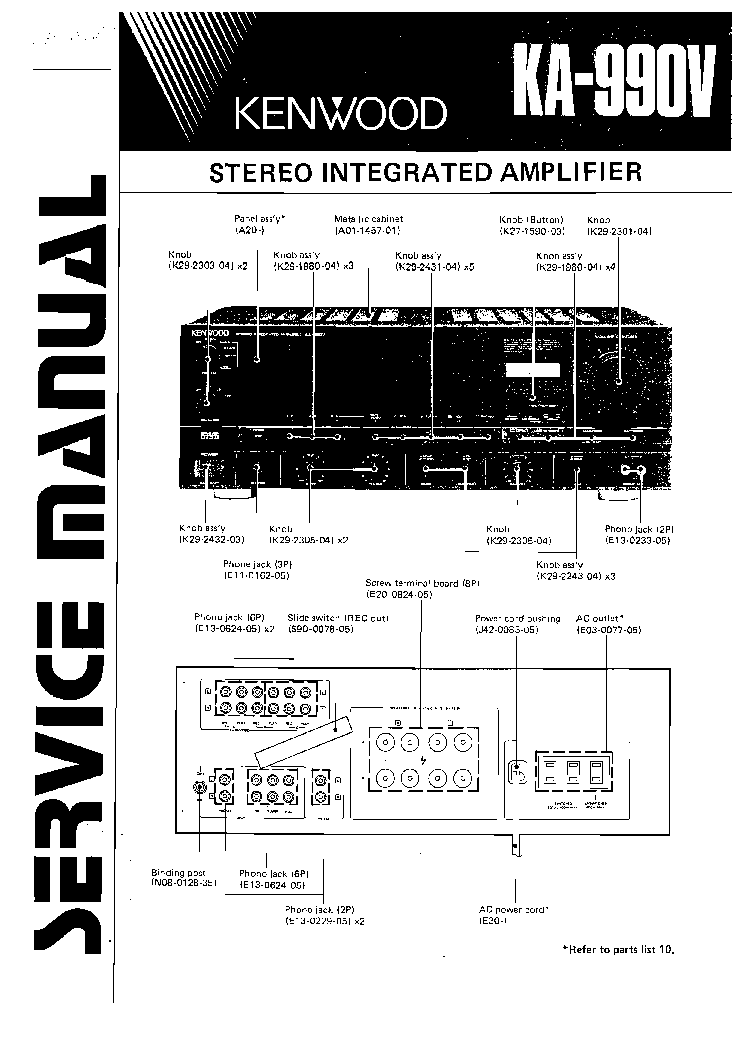 KENWOOD KA-990V SM service manual