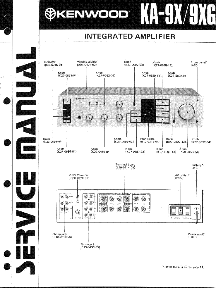 KENWOOD KA-9X 9XG SM service manual