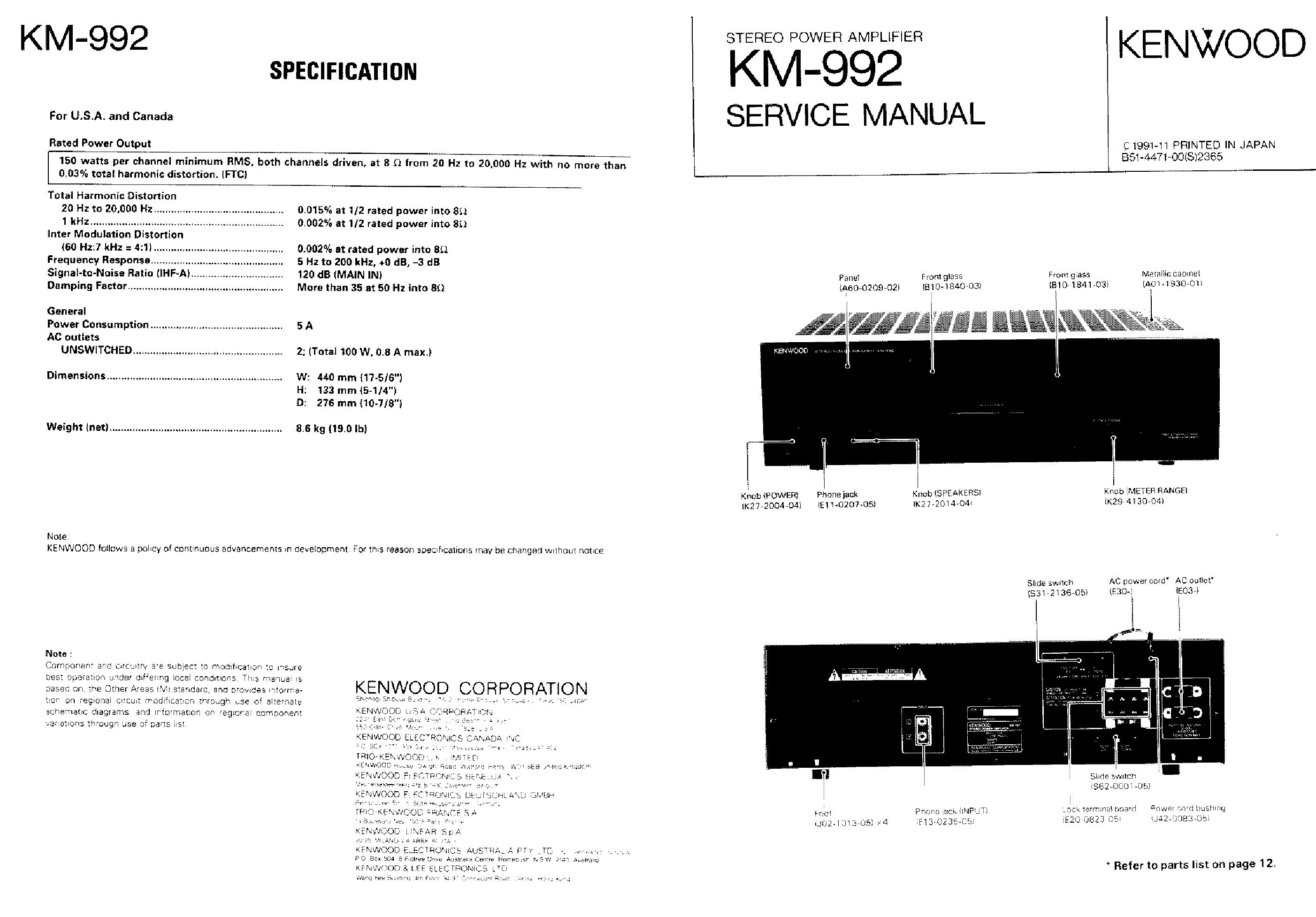 Kenwood Wiring Diagram On Kenwood Kac 819 Amplifier Wiring Diagram