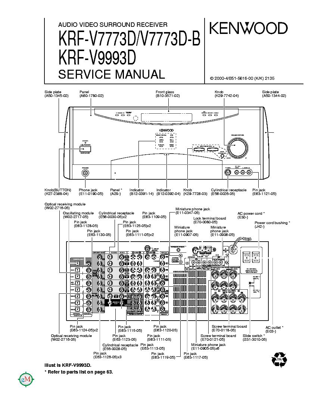 kenwood krf v7773d v7773d b receiver repair manual
