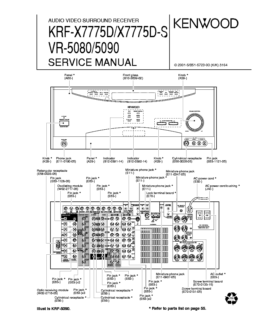 KENWOOD KRF-X7775 VR-5080-5090 service manual (1st page)