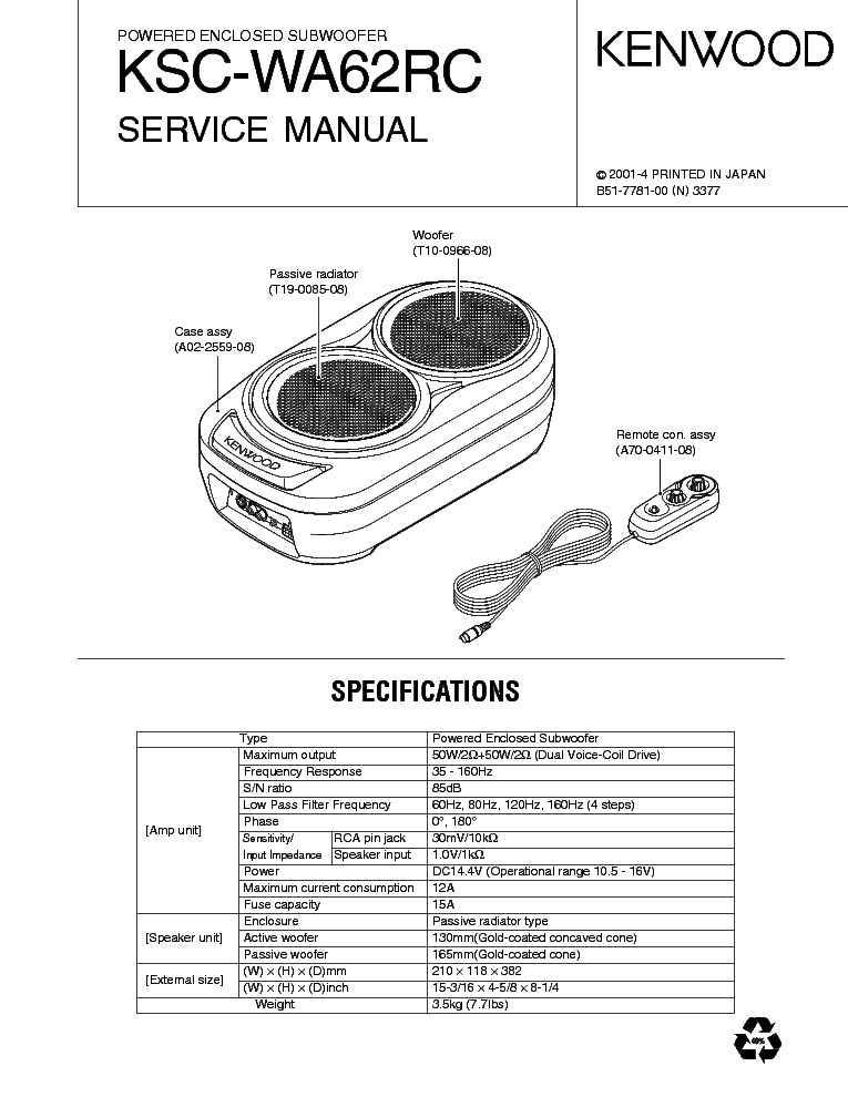 kenwood_ksc wa62rc.pdf_1 kenwood 500 600 650 sm service manual download, schematics, eeprom kenwood ksc-sw1 wiring harness at alyssarenee.co