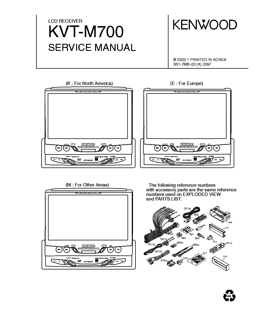 Wiring Diagram For Kenwood Kvt 617dvd : Kenwood kvt m service manual download schematics