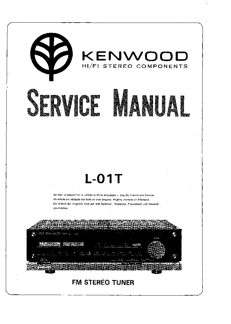 KENWOOD L-01T SM service manual (1st page)