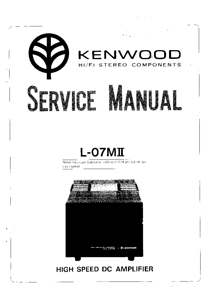 KENWOOD L-07MII service manual (1st page)