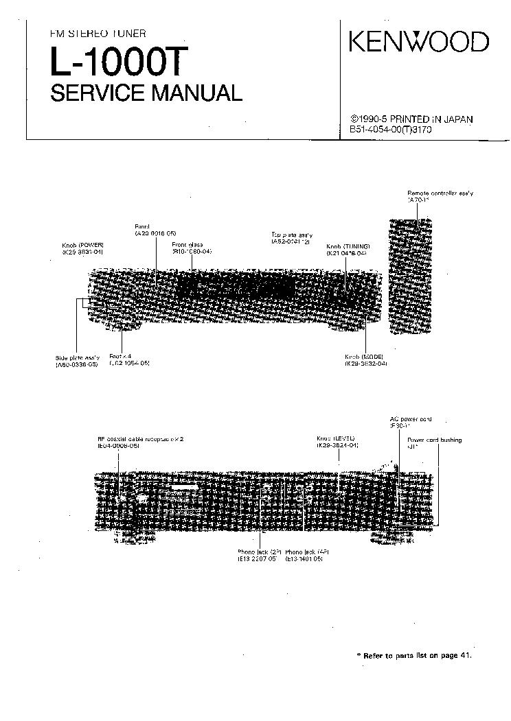 Kenwood ka 601 Manual