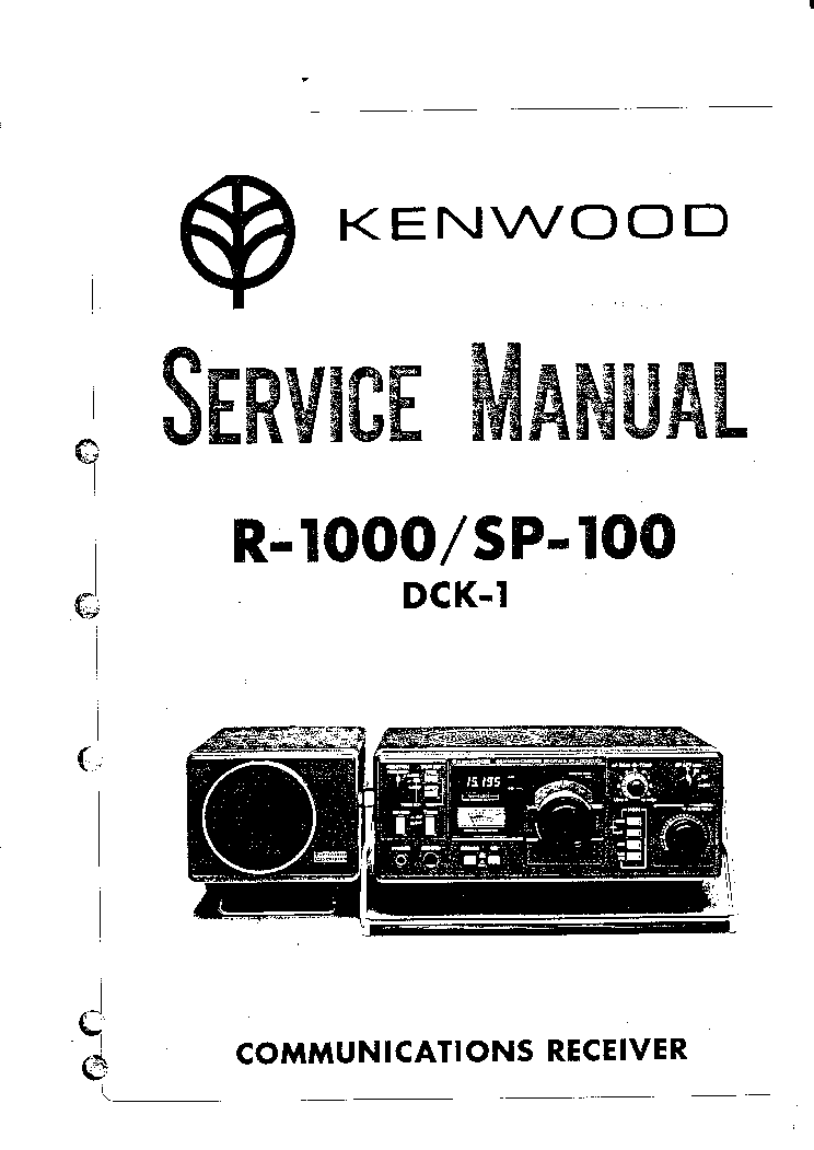Kenwood R 1000 Receiver Service Manual Service Manual Download Schematics Eeprom Repair Info For Electronics Experts