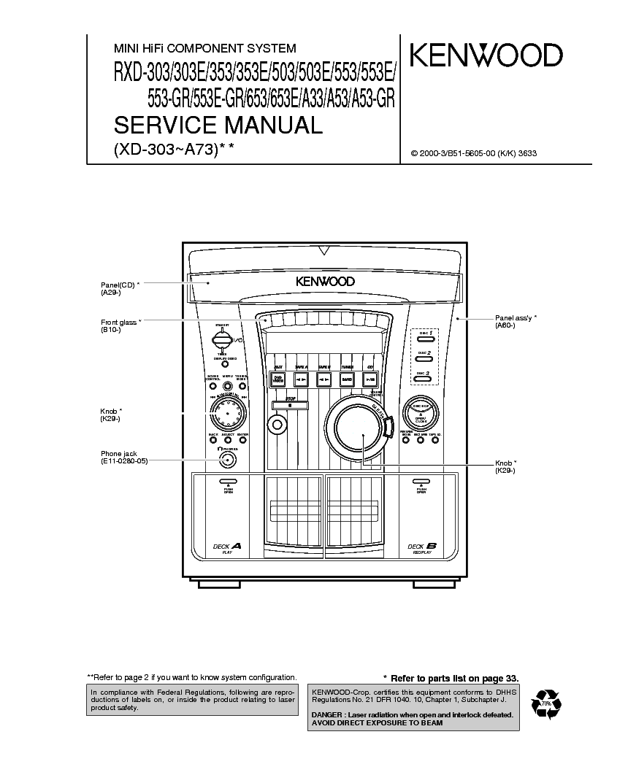 kenwood rxd a33 service manual download schematics eeprom repair rh elektrotanya com Kenwood Instruction Manual Kenwood Receiver Operator Manuals