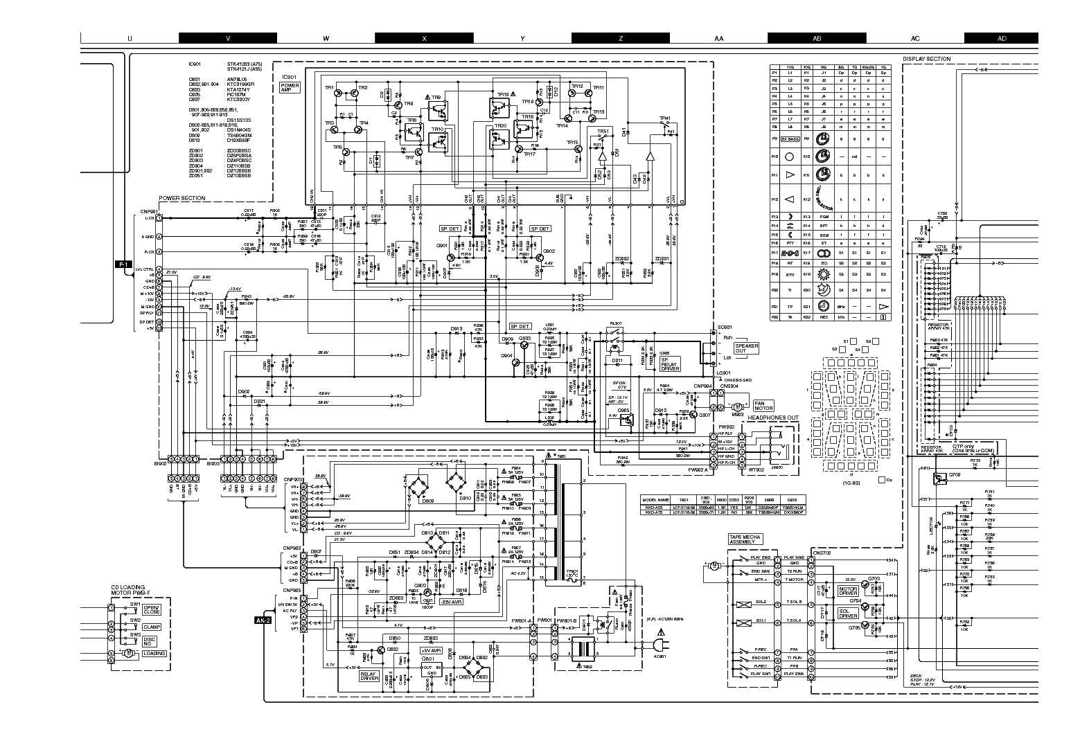 kenwood rxd a75 mini hifi component system service manual