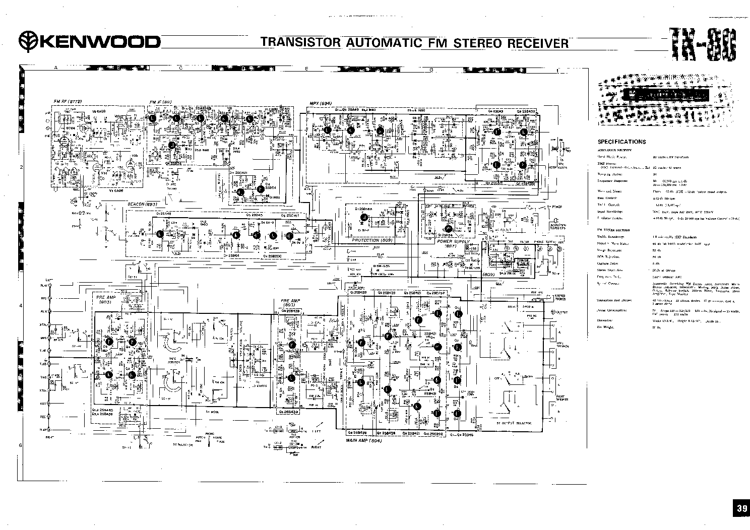 KENWOOD TK-80 SCHEMATIC service manual (1st page)