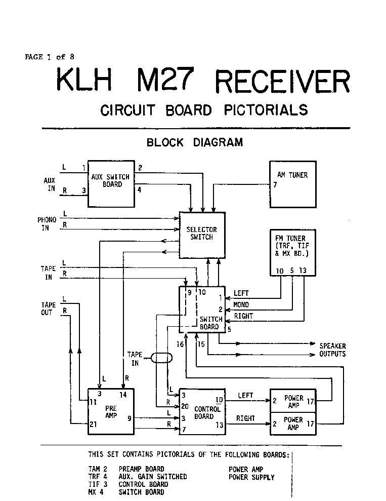 klh 5 speaker system sch service manual download  schematics  eeprom  repair info for