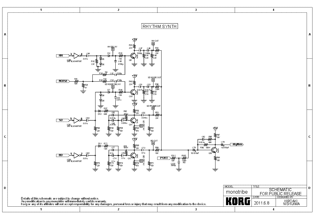 Korg tr Service manual
