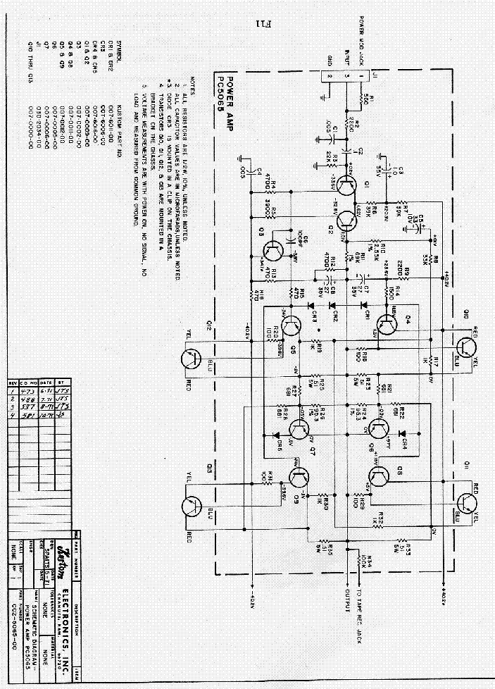 kustom pc5065 power amp sch service manual download Kustom Amp Schematic