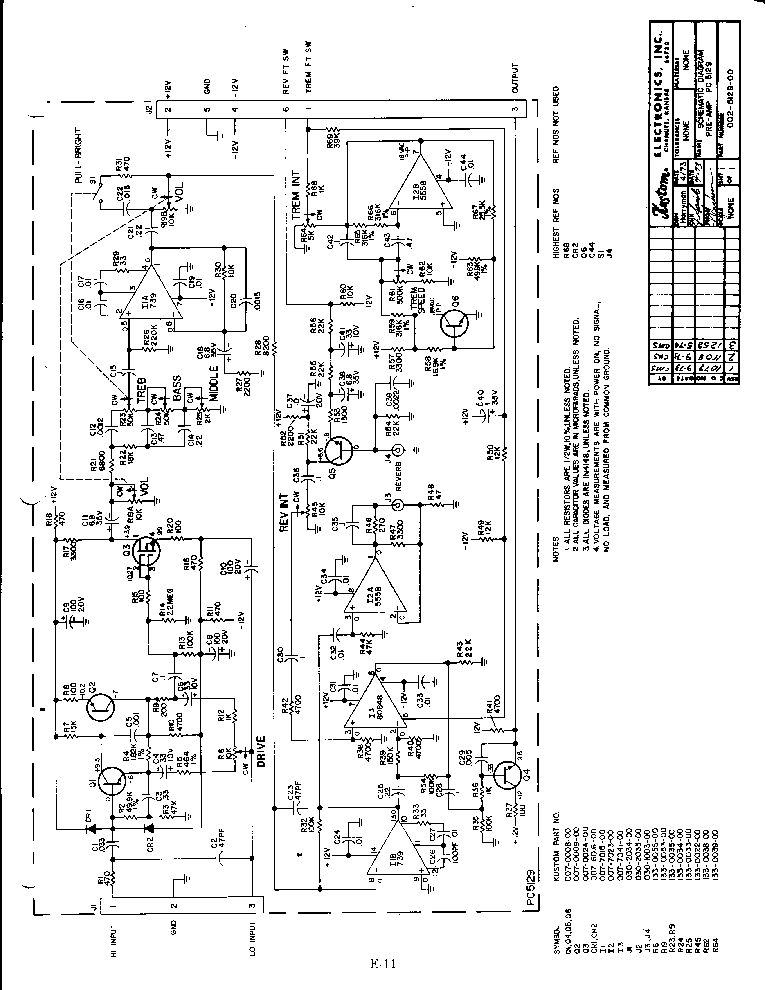 kustom amp schematics related keywords