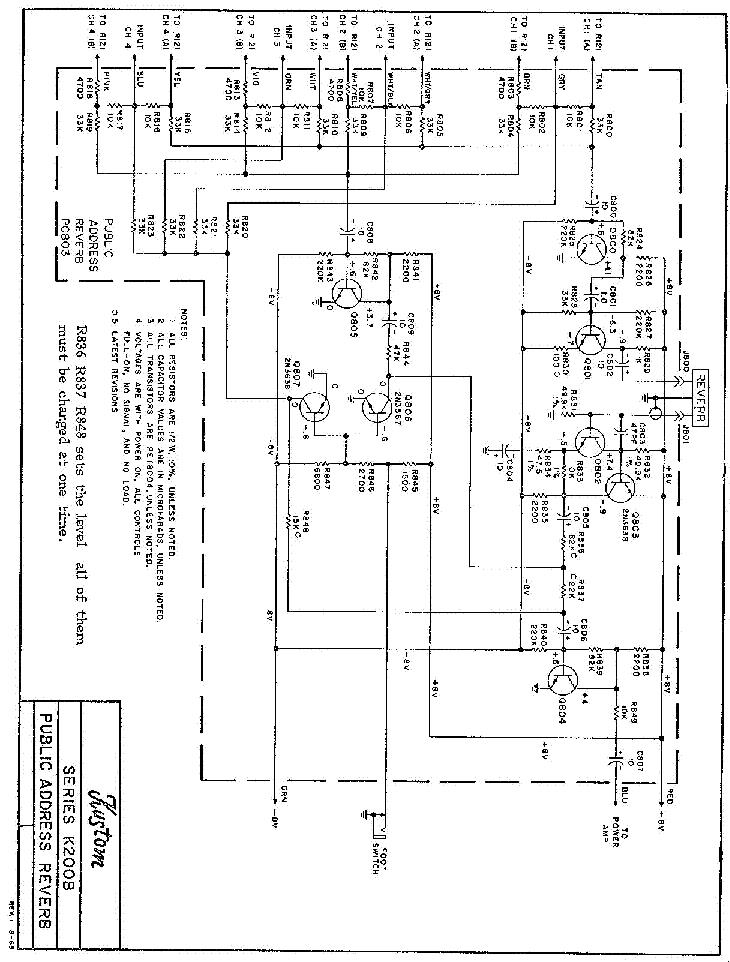 kustom pc703 power amp sch service manual download