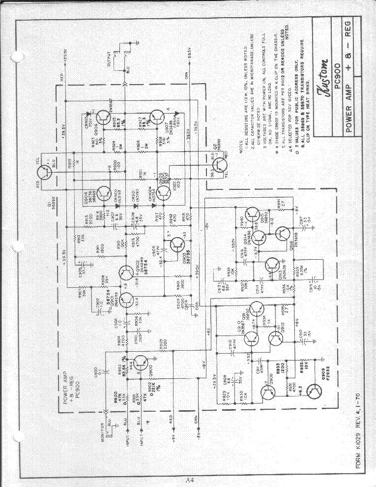 [SCHEMATICS_4FR]  KUSTOM PC900 POWER AMP SCH Service Manual download, schematics, eeprom,  repair info for electronics experts | Kustom Amp Schematic |  | Elektrotanya