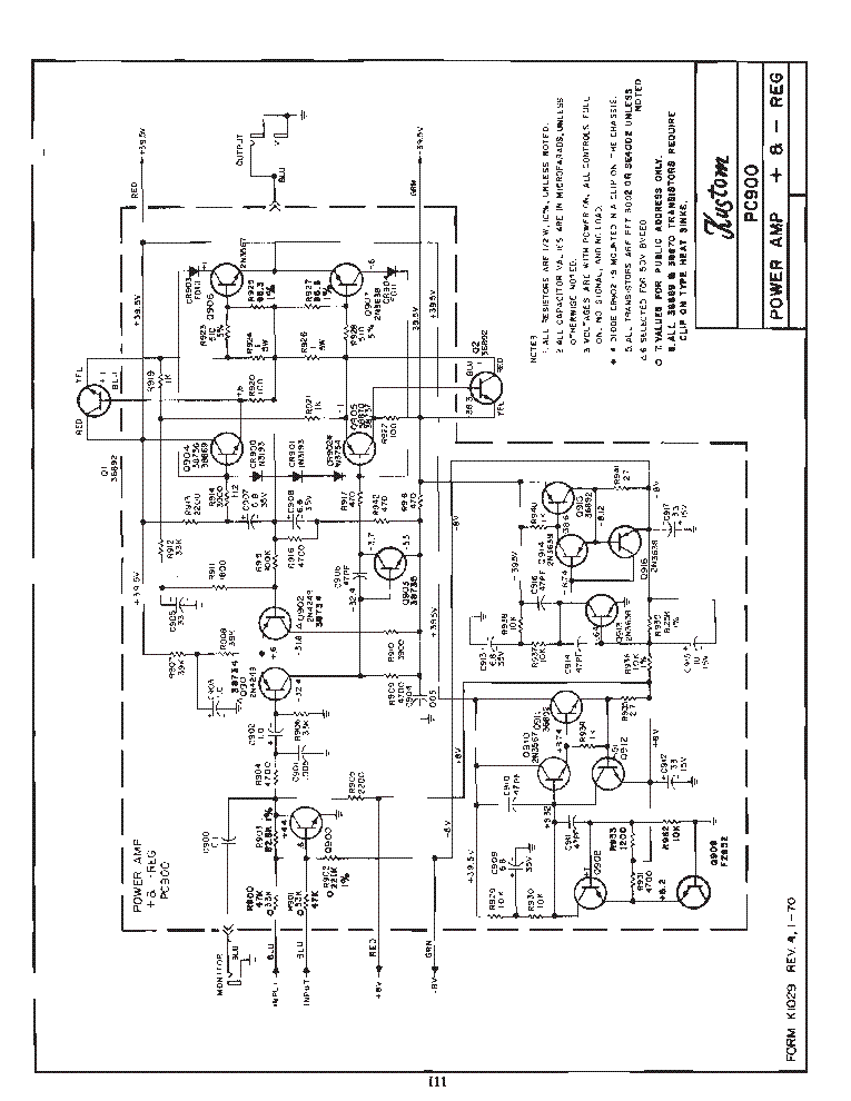 kustom pc900 poweramp sch service manual (1st page)