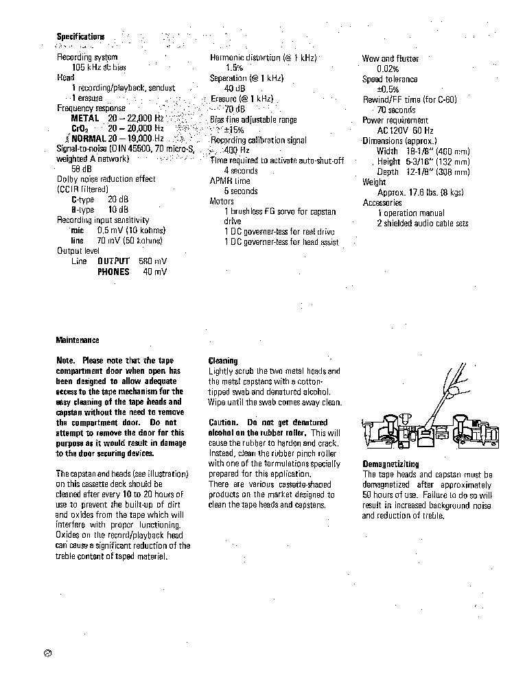 KYOCERA D-801 CASETTEDECK Service Manual download, schematics