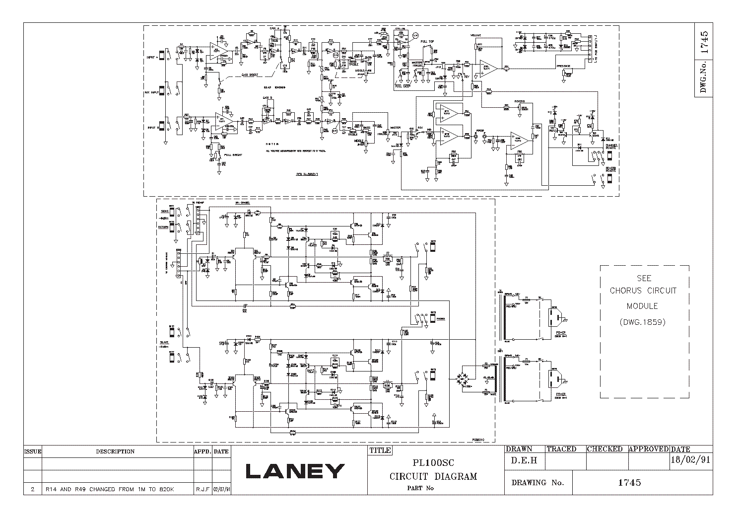 LANEY LH50 Service Manual download, schematics, eeprom, repair info