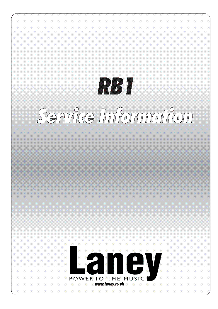 LANEY RB1 SCH service manual