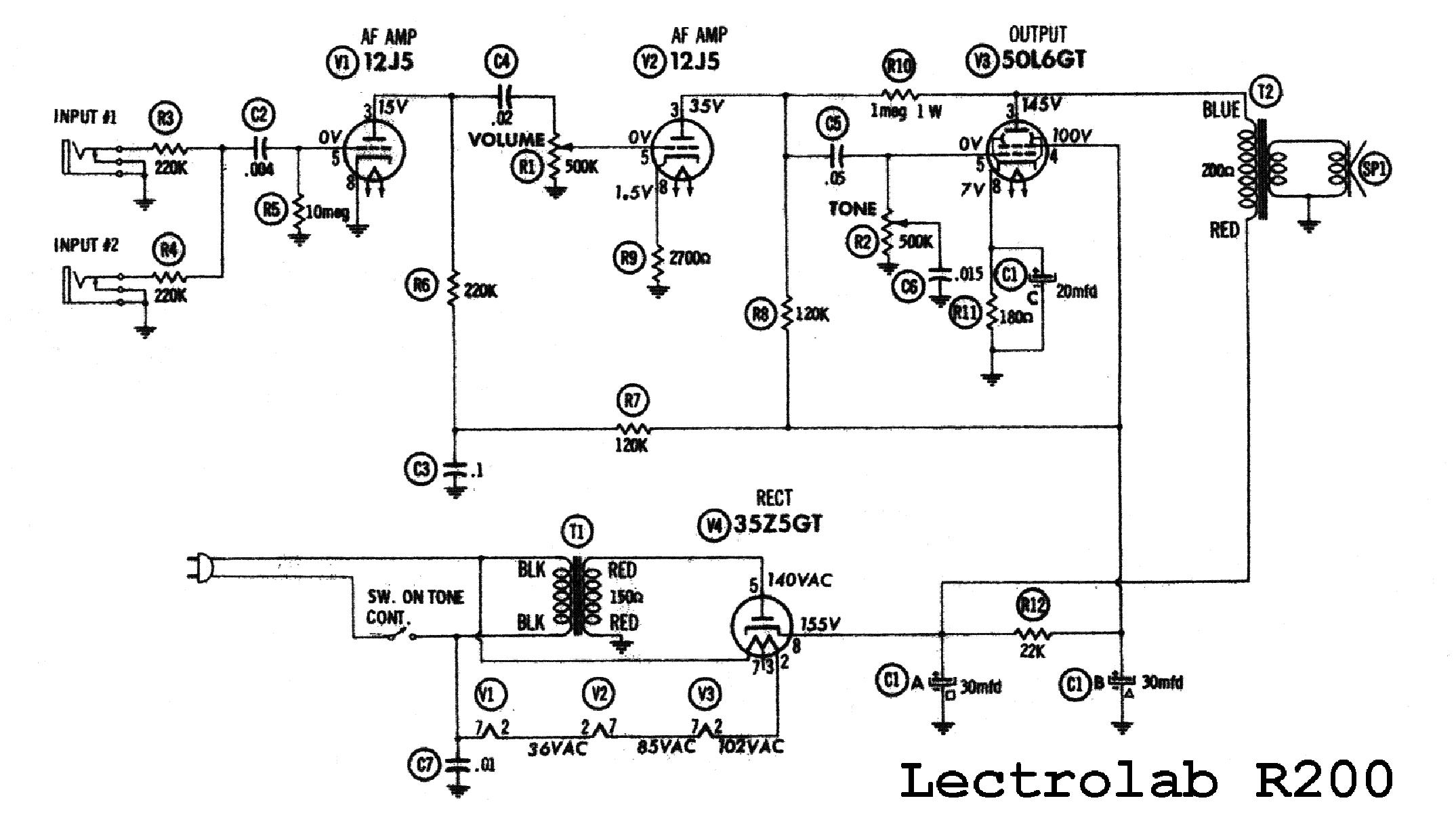 LECTROLAB R200 SCH Service Manual download, schematics, eeprom ...
