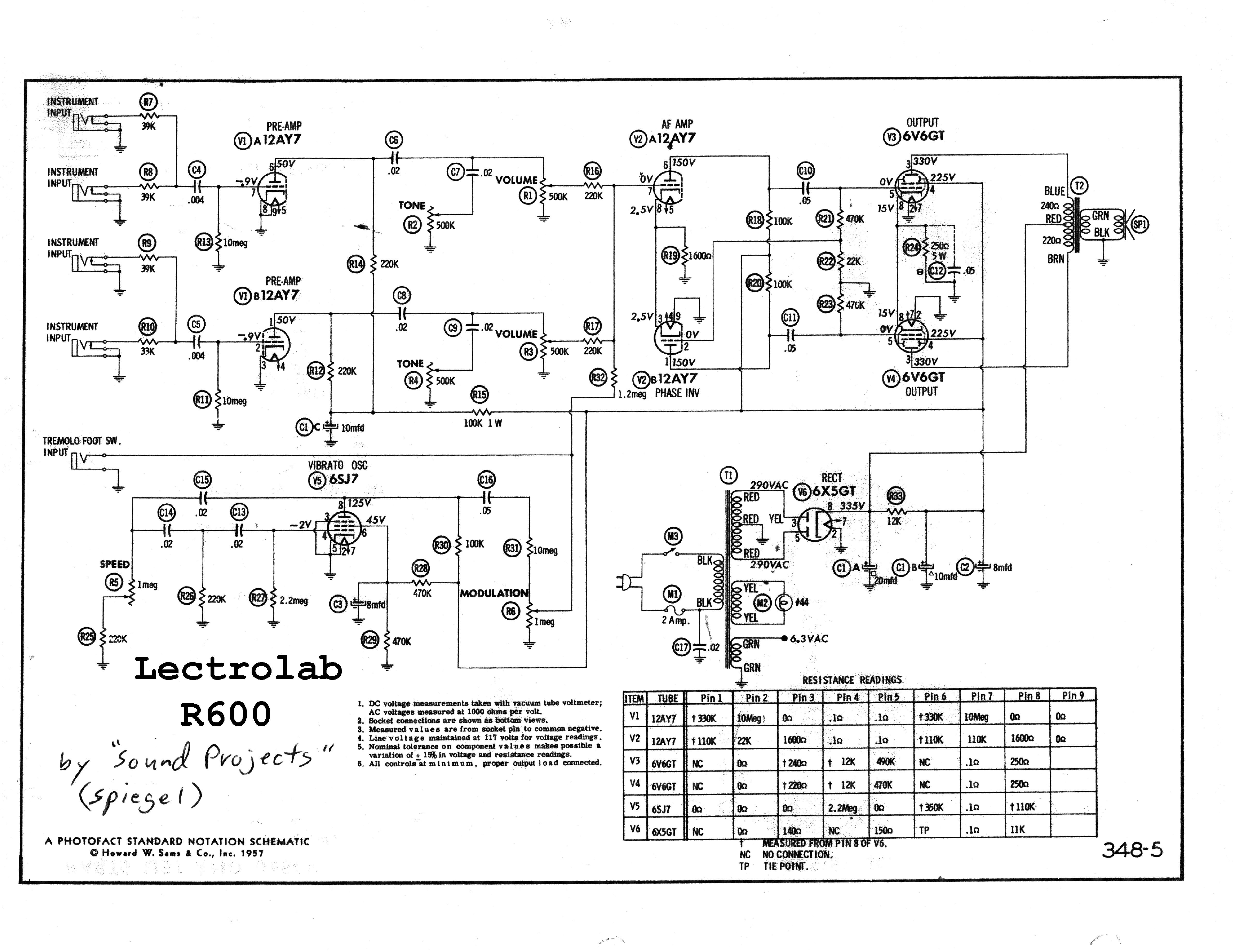 LECTROLAB R600 SCH Service Manual download, schematics, eeprom ...