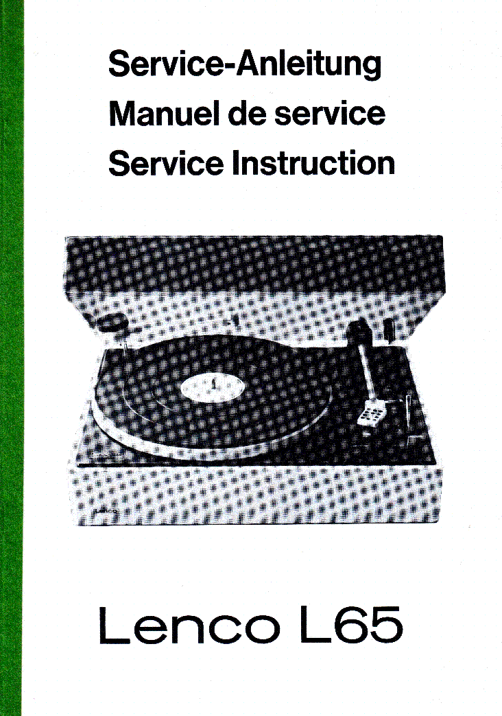 Lenco l65 turntable service instruction service manual download lenco l65 turntable service instruction service manual 1st page sciox Images