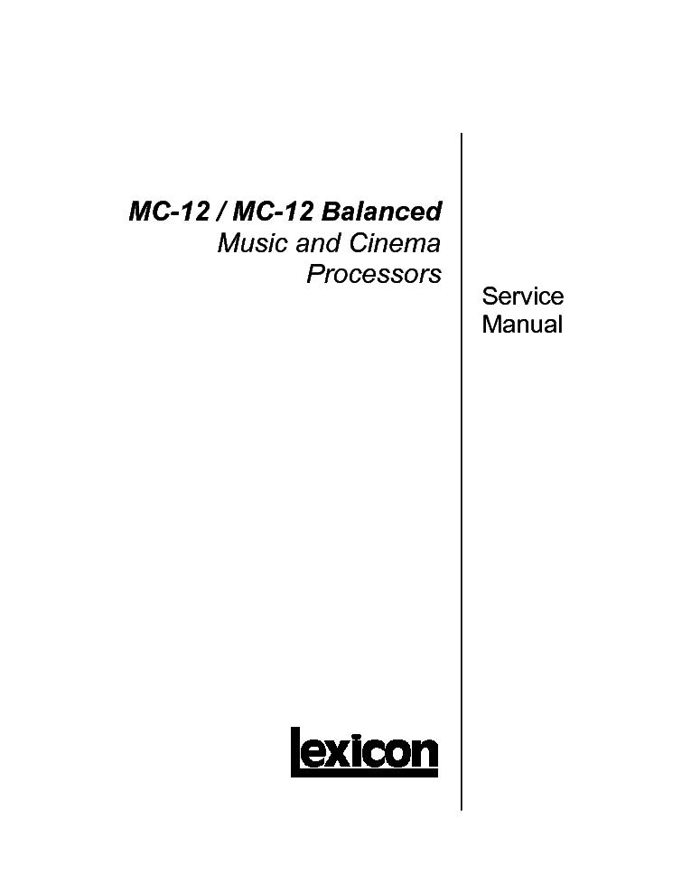 lexicon mpx1 sm service manual download schematics eeprom repair rh elektrotanya com lexicon mc-1 owner's manual lexicon mx200 owners manual