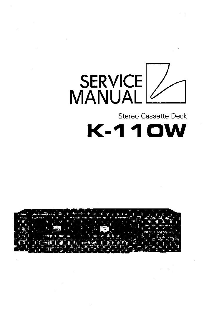 Luxman L 110 service Manual