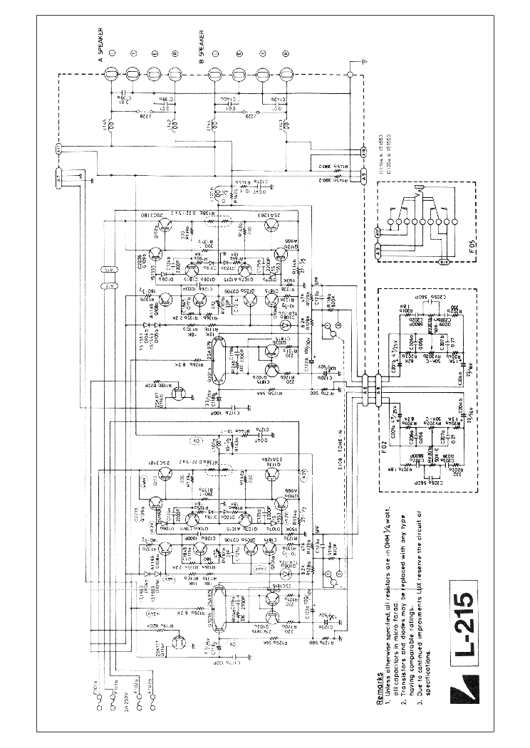 luxman l 530 service manual free download  schematics