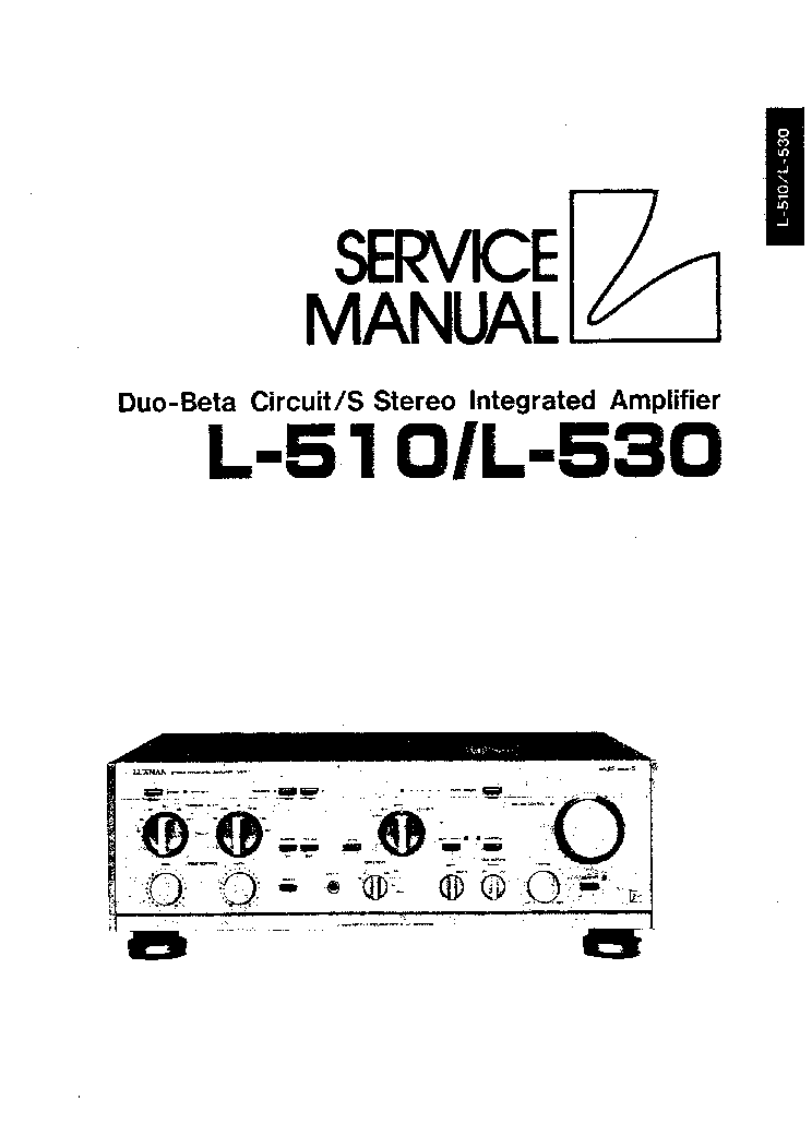 Luxman L230 Service Manual Free Download  Schematics