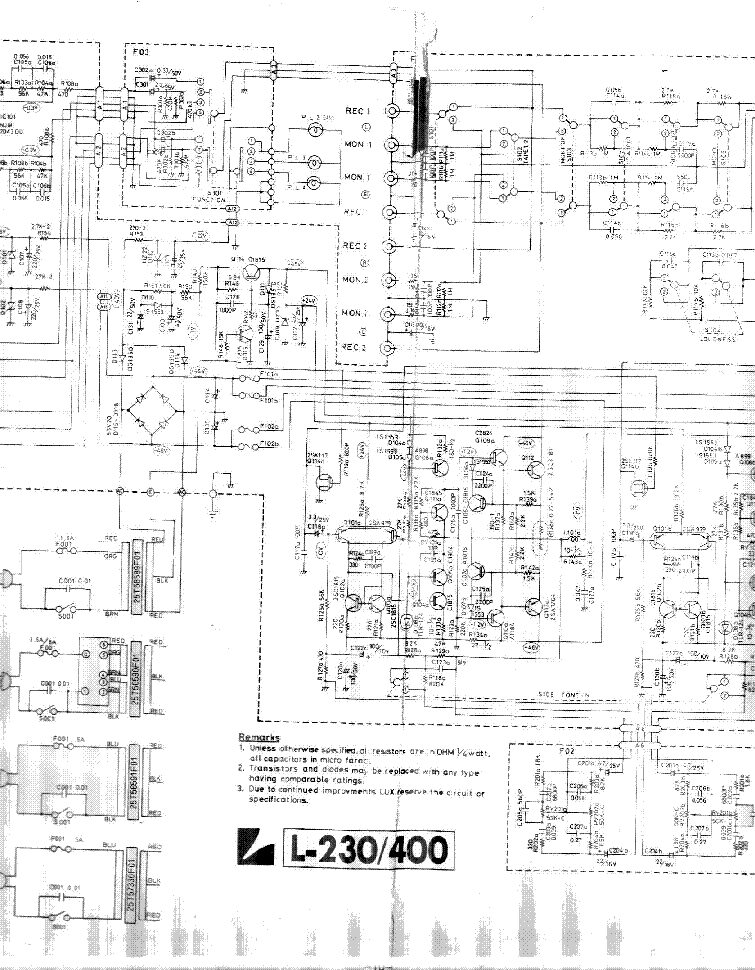 LUXMAN L230 service manual (2nd page)