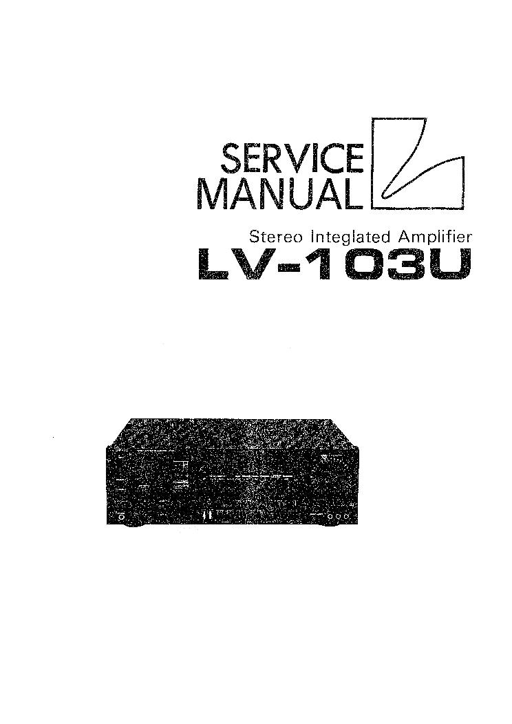 Luxman lv-103 service manual download, schematics, eeprom, repair.