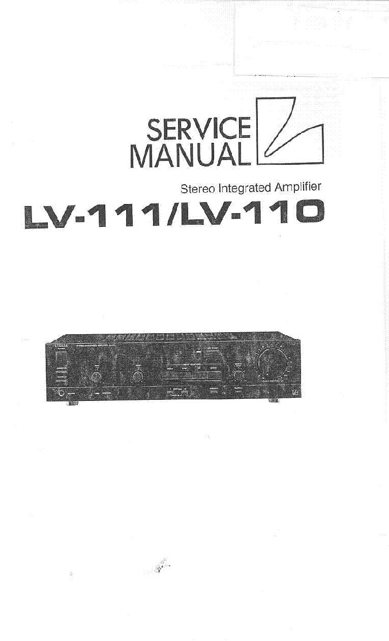 LUXMAN LV-110 LV-111 SM service manual (1st page)