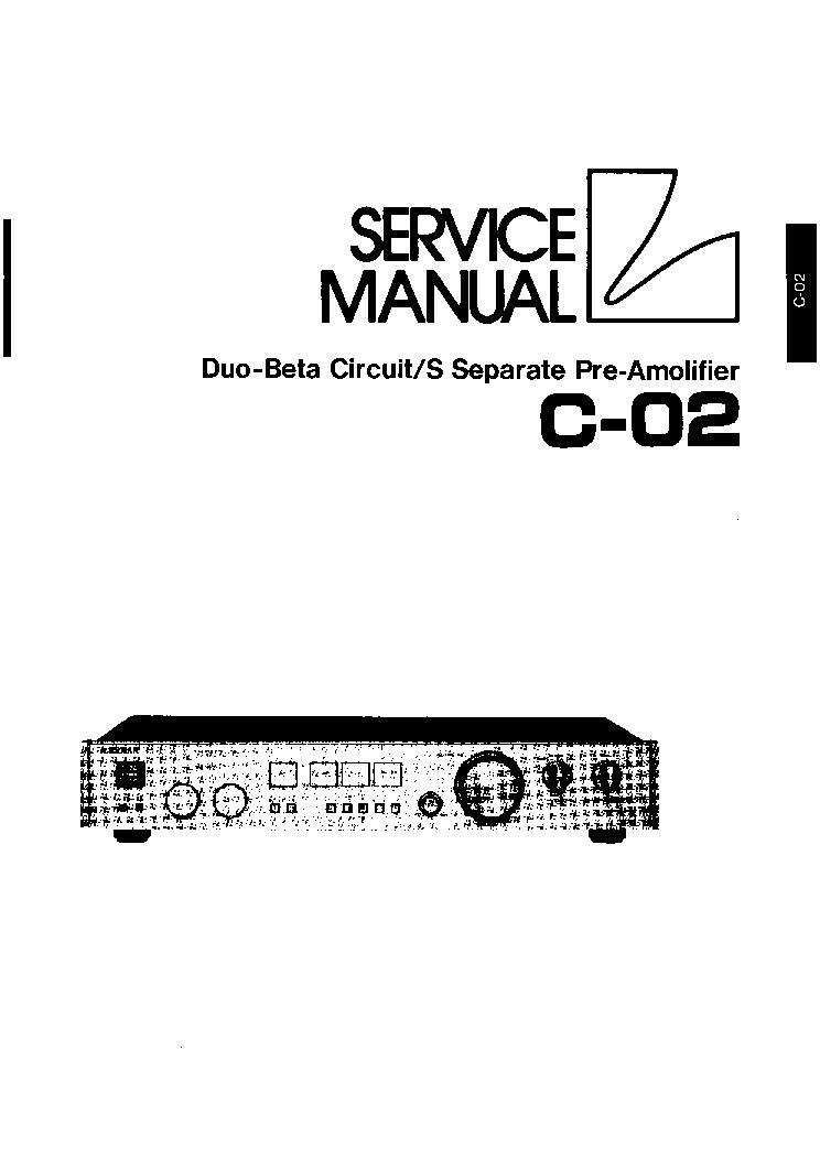 Owner/'s Manual-Anleitung für Luxman C-02