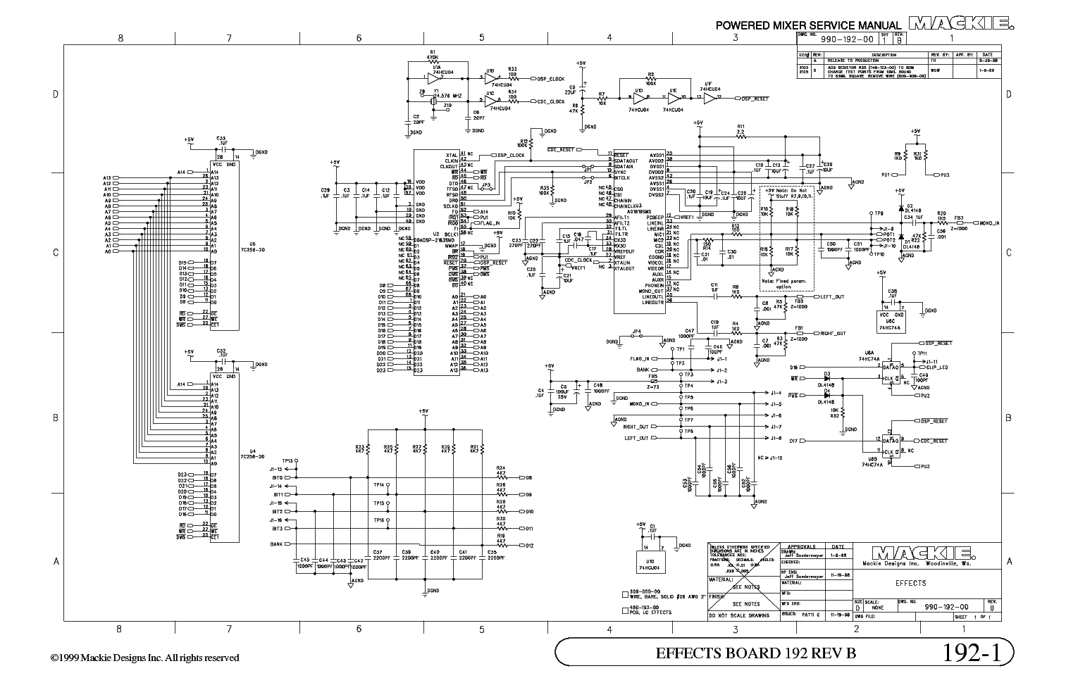 mackie 808s mixer sch service manual schematics eeprom repair info for electronics