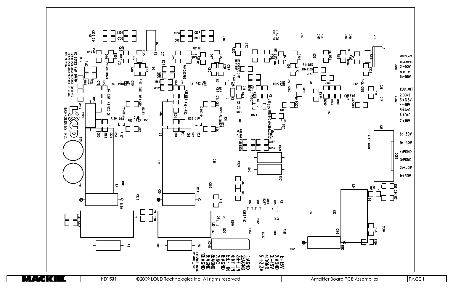Mackie Sr1530 Active Speaker Service Manual Download  Schematics  Eeprom  Repair Info For