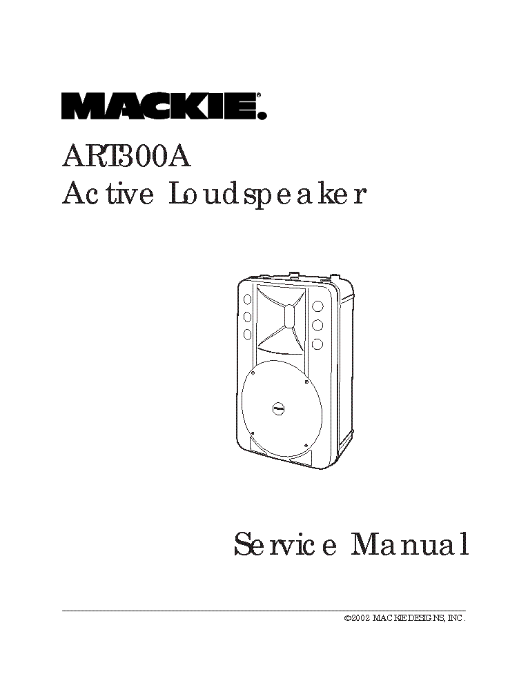 MACKIE ART300A SM service manual (1st page)