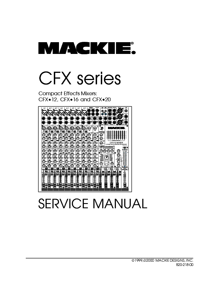 MACKIE 1202-VLZ PRO SCHEMATIC DIAGRAM Service Manual download ... on