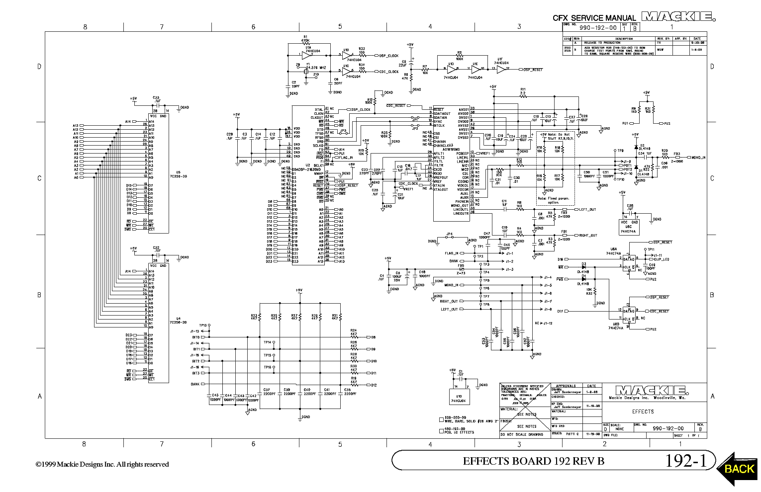 Mackie wiring diagrams