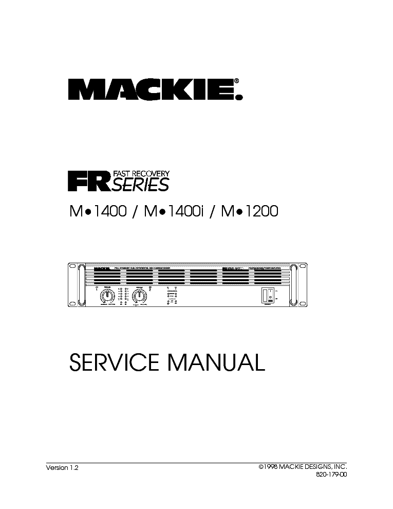 MACKIE PPM608 POWERED MIXER Service Manual download